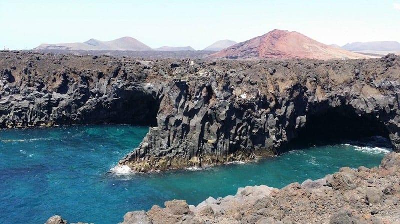 Los Hervideros en la costa de Lanzarote