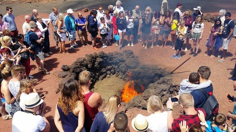 Experiments with the Timanfaya heat