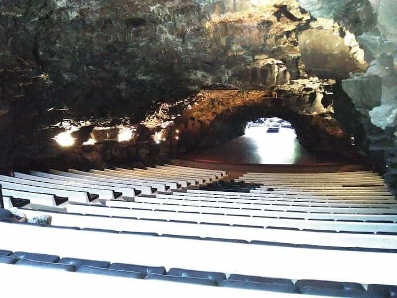Harrows of the auditorium of the Jameos