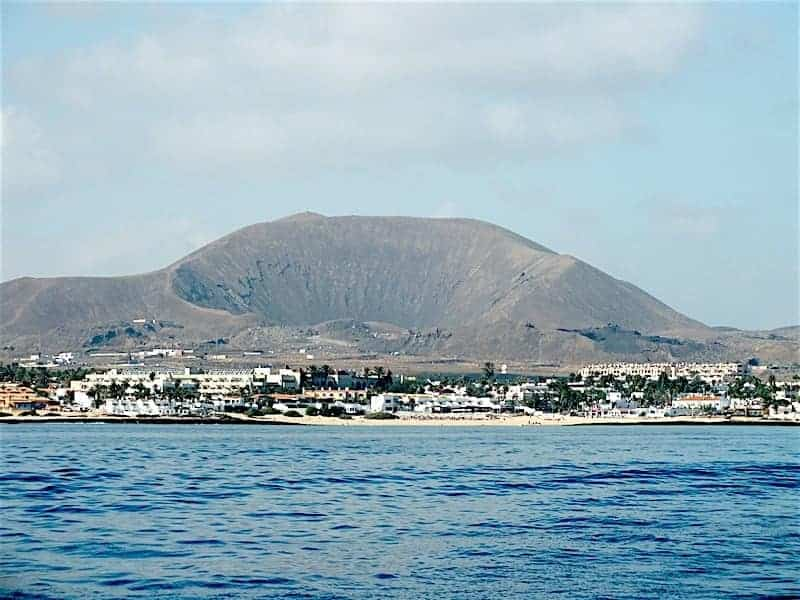 View of Corralejo from the sea