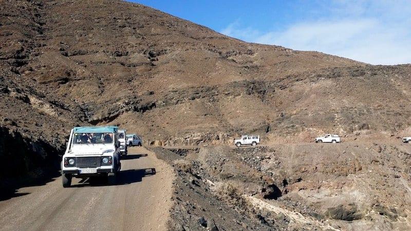 Caravana de 4x4 por el norte de Fuerteventura