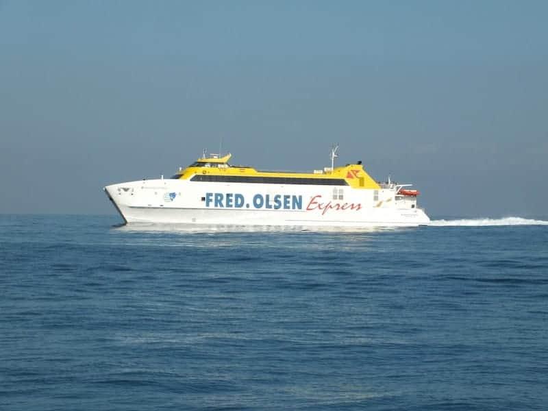 Fred Olsen to Fuerteventura from Lanzarote