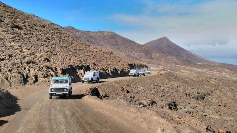 Roads for off-road in the north of Fuerteventura