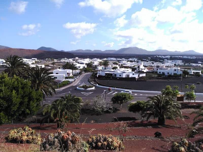Weiße Häuser von Lanzarote