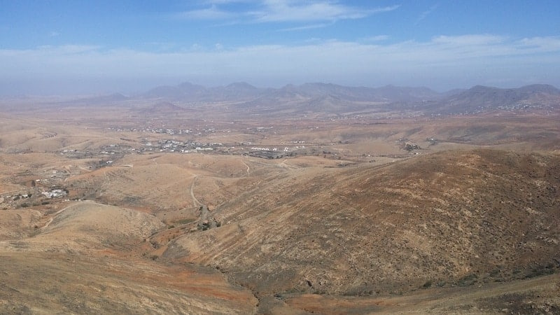 Arid landscape of Fuerteventura