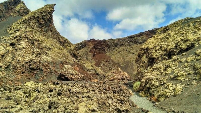 Krater des Cuervo-Vulkans